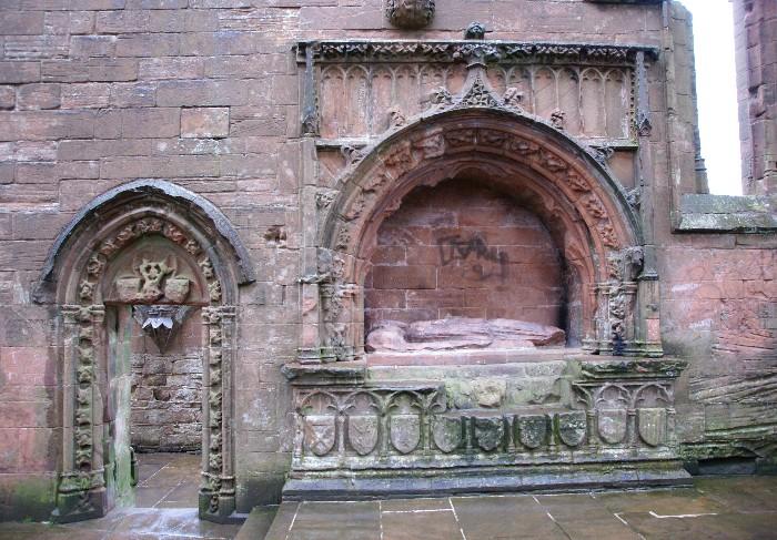 Lincluden Collegiate Church, tomb of Princess Margaret