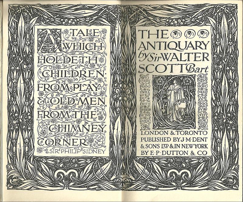 The Antiquary Sir Walter Scott J M Dent & Co Edited Ernest Rhys