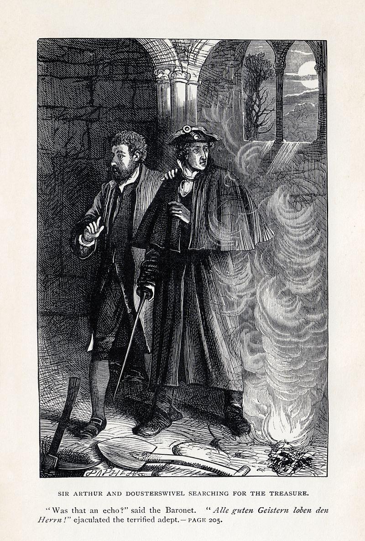 walter scott antiquary illustration sir arthur